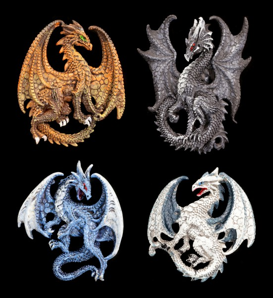 Fridge Magnets - Dragon Brothers - Set of 4