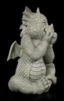 Drachen Gartenfigur - Lacht sich ins Fäustchen