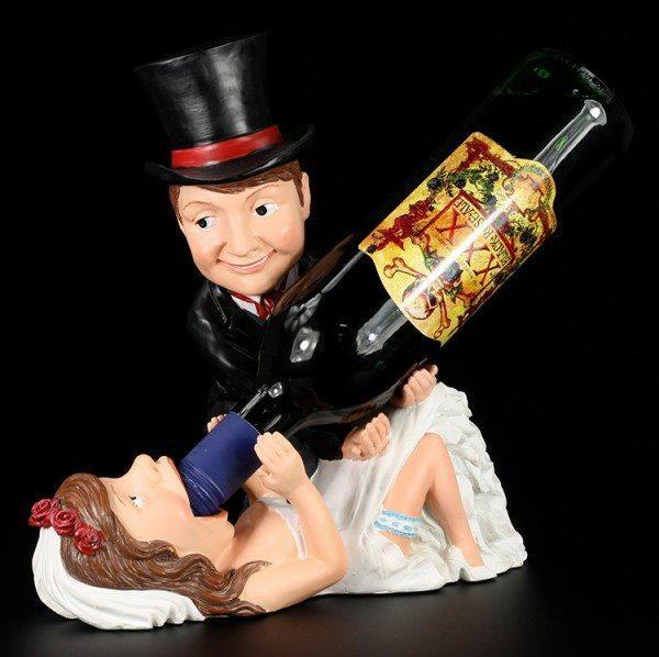 Flaschenhalter - Brautpaar