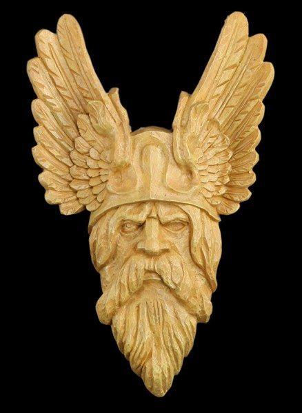Odin Wandrelief - holzfarben