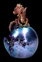 Rote Drachenfigur - Geode Guard LED