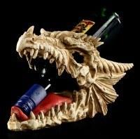 Flaschenhalter - Drachen Totenkopf