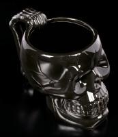 Totenkopf Tasse schwarz