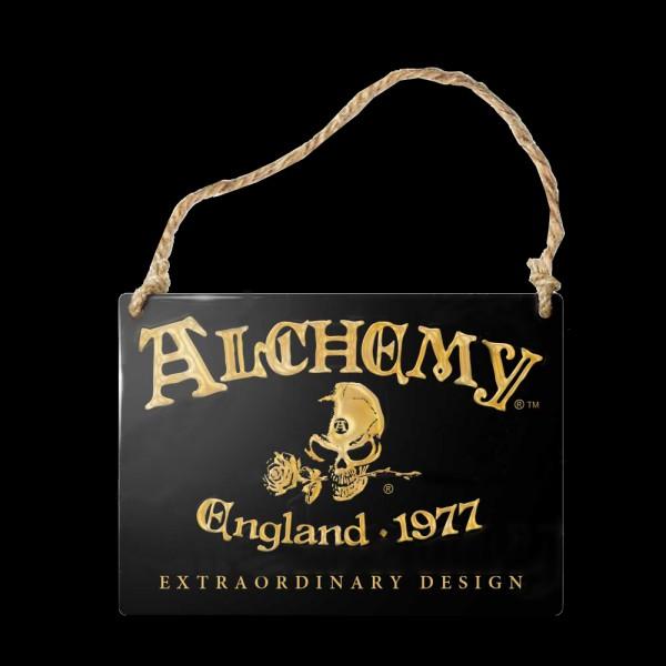 Alchemy Metallschild klein - Alchemy England 1977