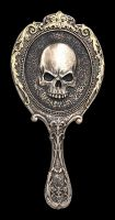 Hand Mirror - Gothic Skull