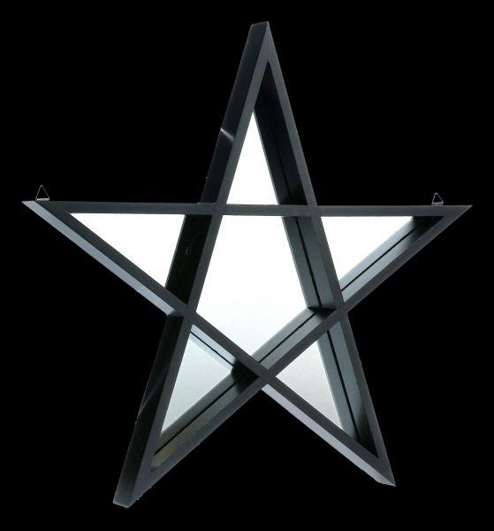 Mirror - Black Framed Pentagram