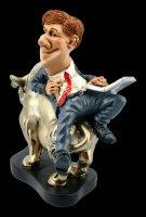 Funny Job Figur - Börsenmakler mit Laptop