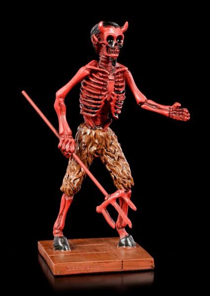 Skelett Figur - Roter Teufel