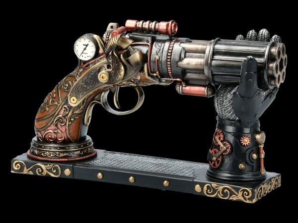 Steampunk Pistole mit Hand-Halterung