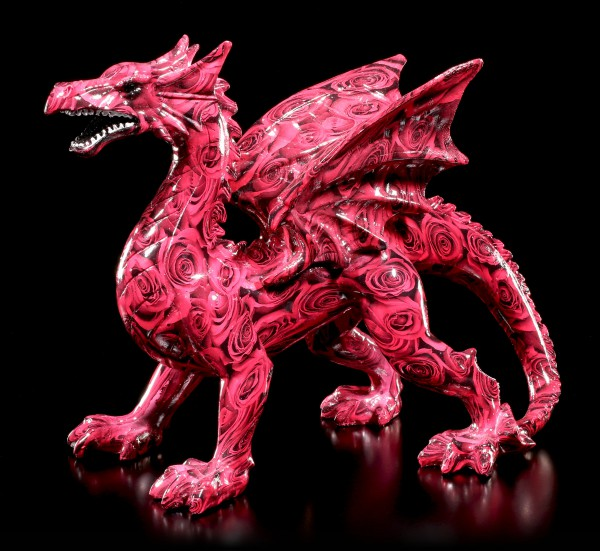 Colourful Dragon Figure with Roses - Romance Dragon