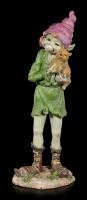 Große Pixie Figur - Alvara mit Kätzchen