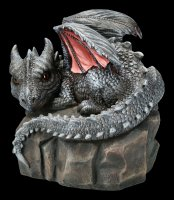 Garden Figurine - Dragon Volatilus on Rock