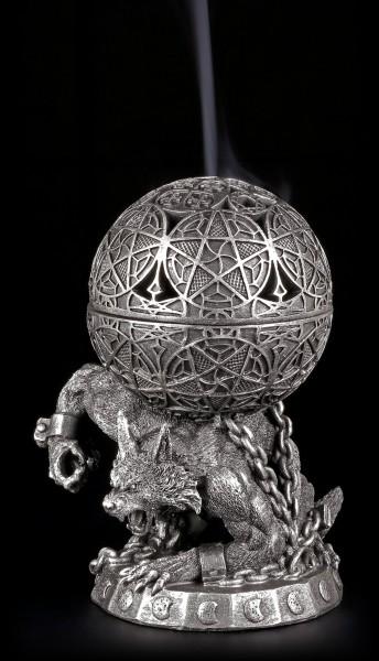 Räucherkegelhalter - Werwolf mit Pentagramm