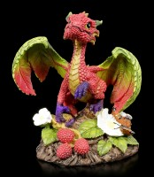 Raspberry Dragon Figurine by Stanley Morrison