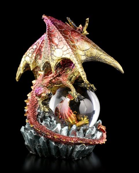 Drachenfigur mit Schneekugel - Ruby Oracle
