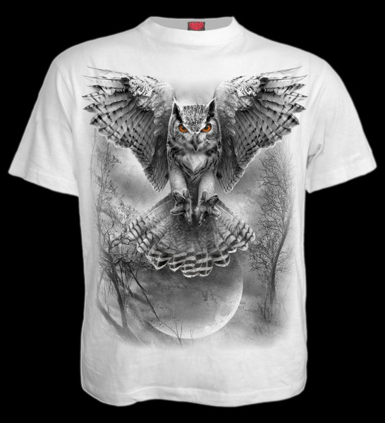 T-Shirt Eule Weiß - Wings Of Wisdom