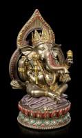 Buddha Figurine - Ganesha on Lotus Throne