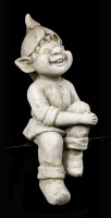 Troll Gartenfigur Kantenhocker - Sitzend