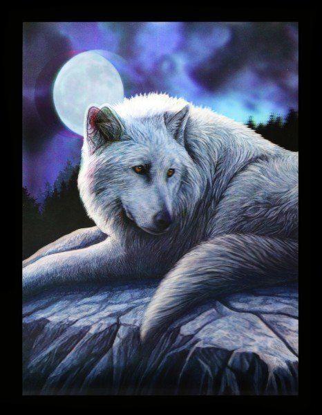 3D Bild mit Wolf - Guardian of the North