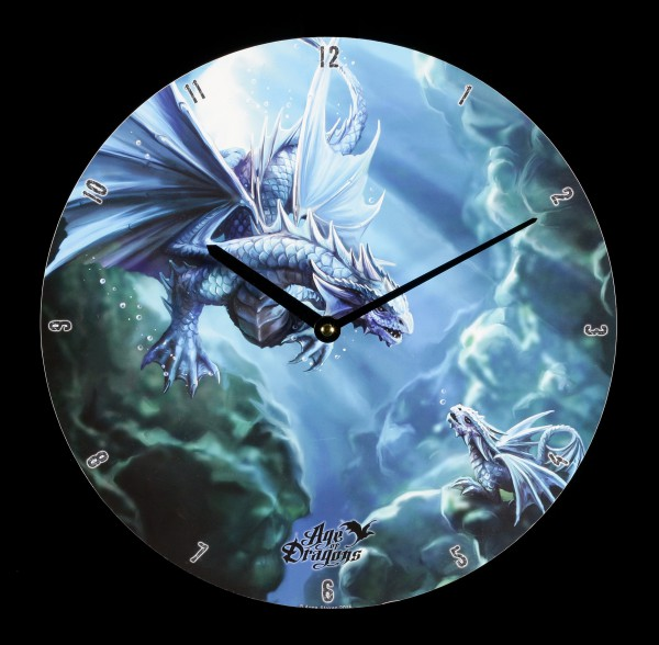 Wanduhr - Age of Dragons - Water Dragon