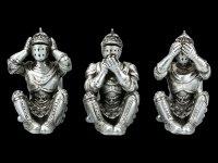 Sitzende Ritter Figuren - Nichts Böses