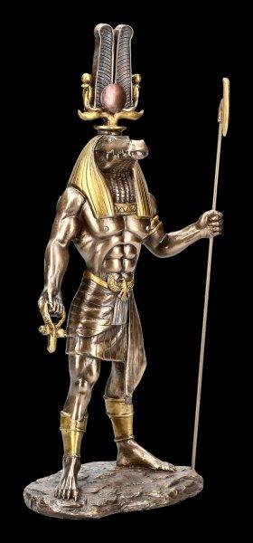 Egypt God Sobek Figurine - bronze