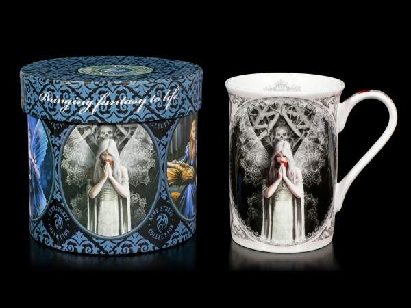 Porzellan Tasse mit Gothic Engel - Only Love Remains