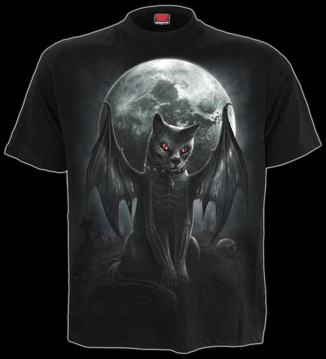 Spiral Gothic T-Shirt - Vamp Cat