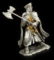Pewter Knight with Cape and Axe