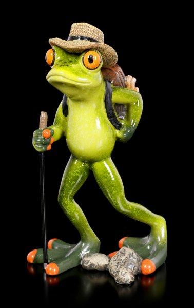 Funny Frog Figurine - Hiker