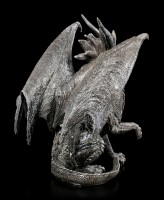 Checkmate Dragon Figurine - black