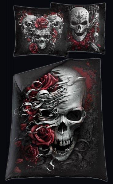 Totenkopf Bettwäsche - Skull N' Roses