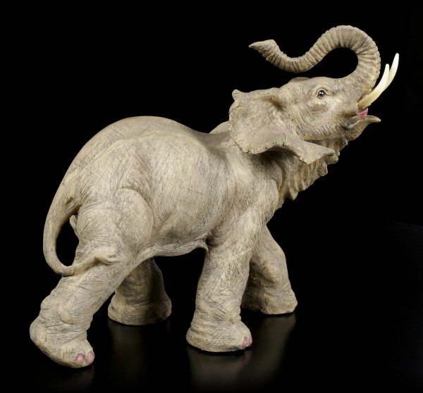 Elephant Figurine - Running with raised Trunk