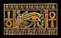 Ägyptische Sanduhr mit Ankh und Auge des Ra Symbolen