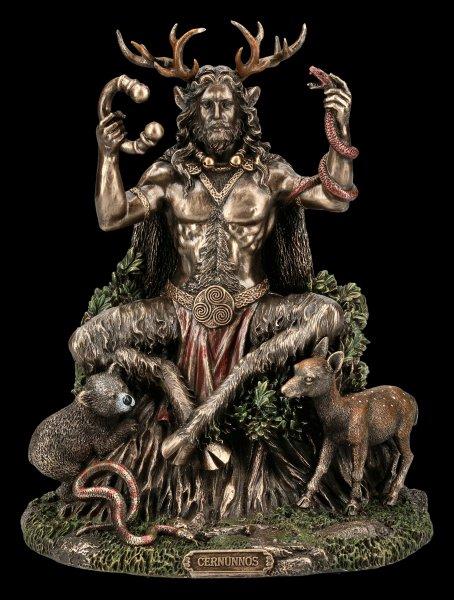 Cernunnos Figur - Keltischer Gott mit Tieren