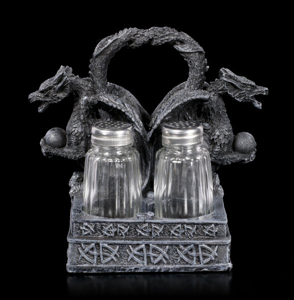 Dragon Salt and Pepper Shaker with Handle