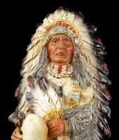 Indianer Figur - Sitzender Häuptling
