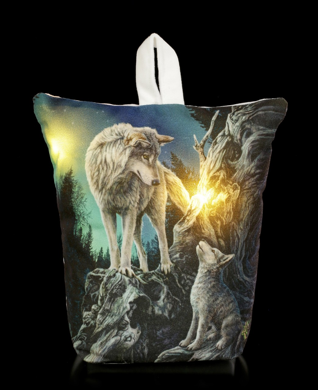 Doorstop with LED and Wolves - Guidance