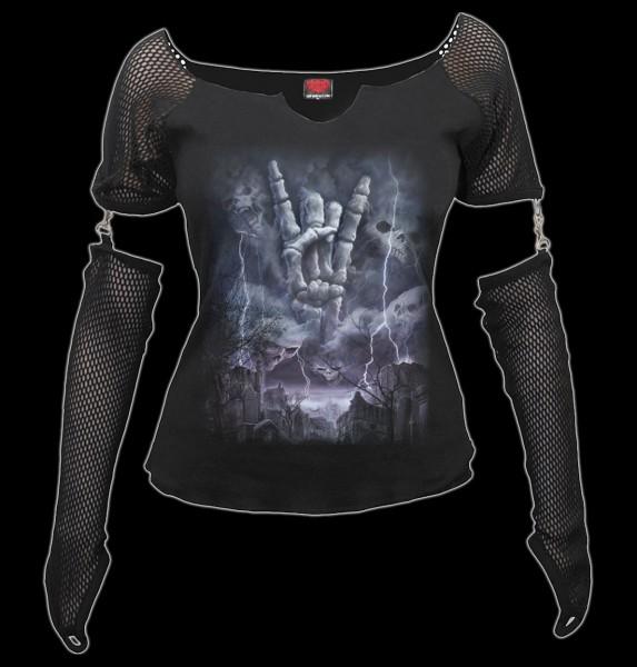 Netz Langarmshirt - Rock Eternal