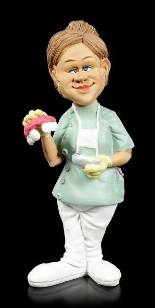 Funny Job Figurine - Female Dentist with Denture