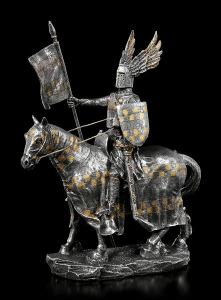 Knight Figurine on Horse - Winged Helmet