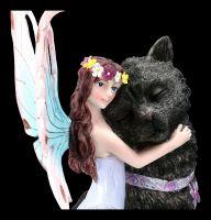 Elfen Figur - Cudla mit schwarzer Katze