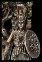 Athena Figur unter heiligem Olivenbaum