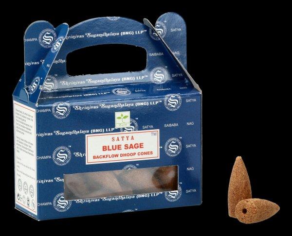 Backflow Incense Cones - Blue Sage by Satya