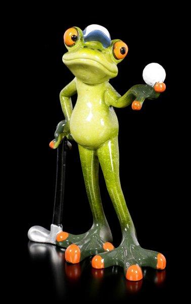 Funny Frog Figurine - Golfer