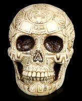 Skull with Aztec Symbols