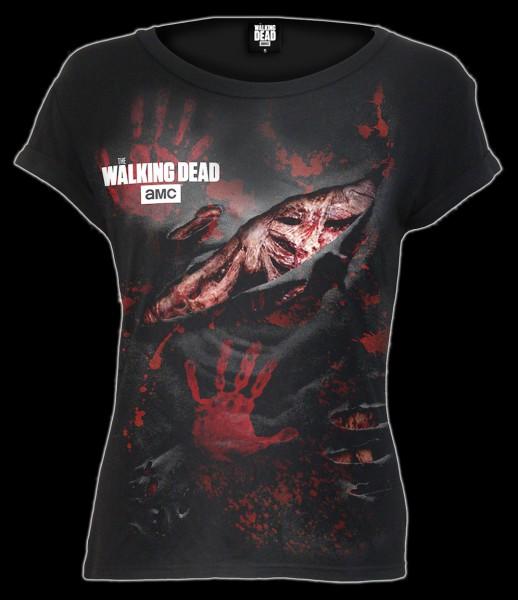 Damen Shirt - The Walking Dead - Blood Hand