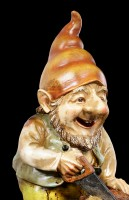 Garden Gnome - Sawing Dwarf