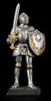 Small Knight Figure with Sword & Shield