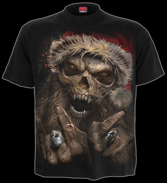 Skelett T-Shirt - Rock Santa